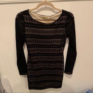 Arden B lace long sleeve dress